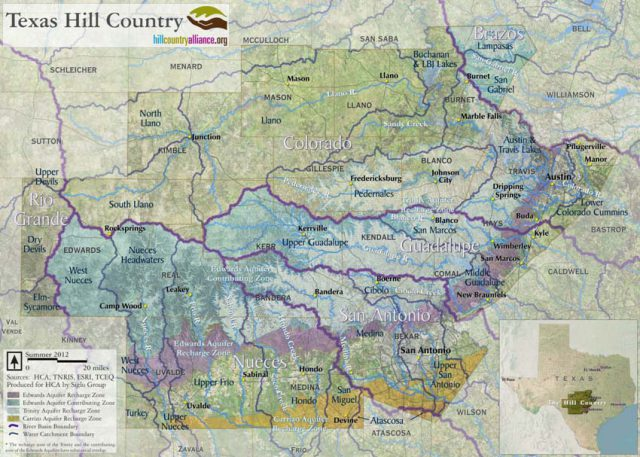 Hill Country Texas Map