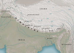 Himalayas map from geographyrealm 7