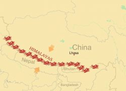 Himalayas map from greattibettour 5