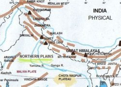 Himalayas map from in 8