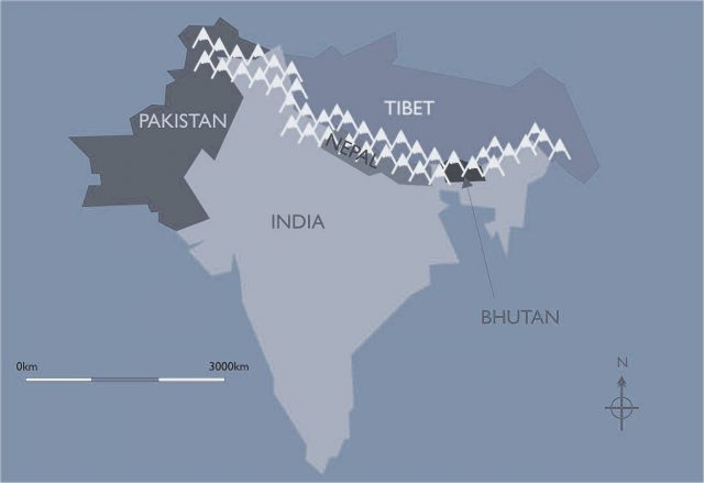 Himalayas on world map from pinterest 1