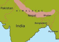 Himalayas on world map from pinterest 10