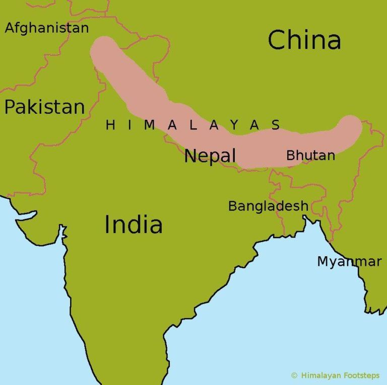Himalayas On World Map From Pinterest 3