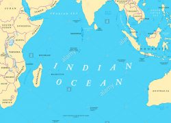 Indian ocean map from alamy 5