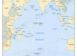 Indian ocean map from earth info 4