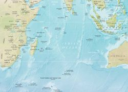 Indian ocean map from geographicguide 1