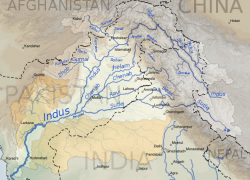 Indus river map from commons 10