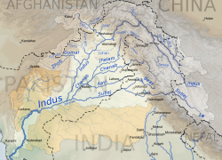 Indus river map from commons 8