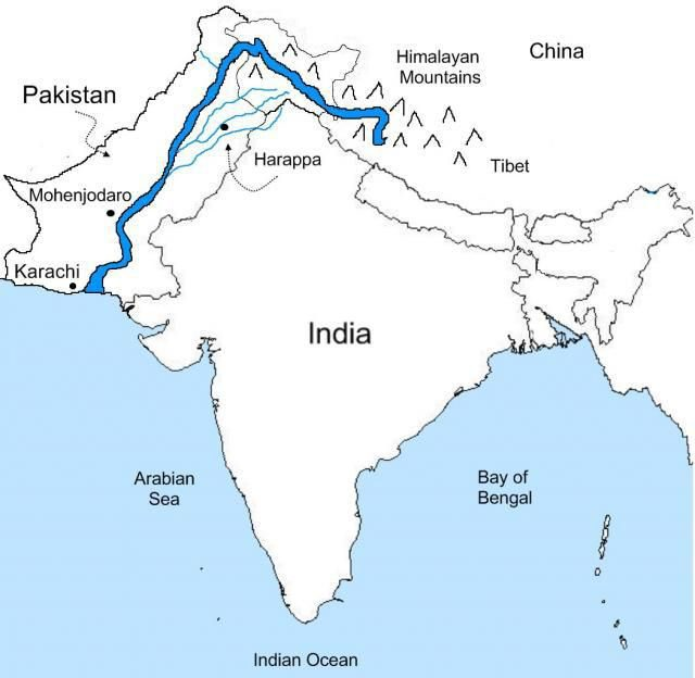 Indus river map from pinterest 1
