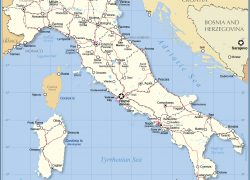 Italy map from nationsonline 3