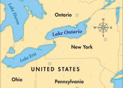 Lake ontario on us map from alamy 5