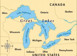Lake ontario on us map from blog 6
