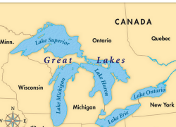 Lake ontario on us map from pinterest 7