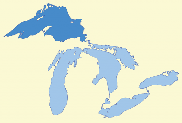 Lake superior on us map from en 1