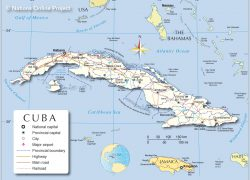 Map of cuba from nationsonline 8