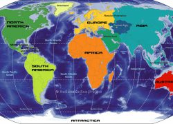 Map Of The World Continents: Map of the world continents from nationsonline 1
