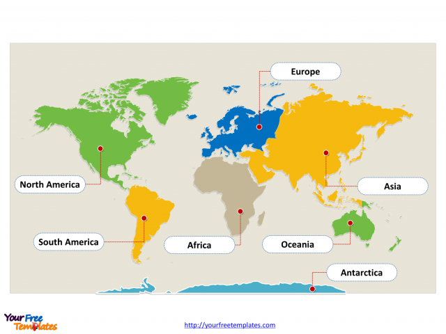 Map Of The World Continents