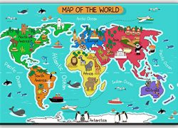 Map Of The World For Kids: Map of the world for kids from amazon 1