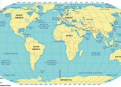 Map Of The World Oceans: Map of the world oceans from mapsofworld 1