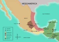 Mesoamerica Map: Mesoamerica map from famsi 1