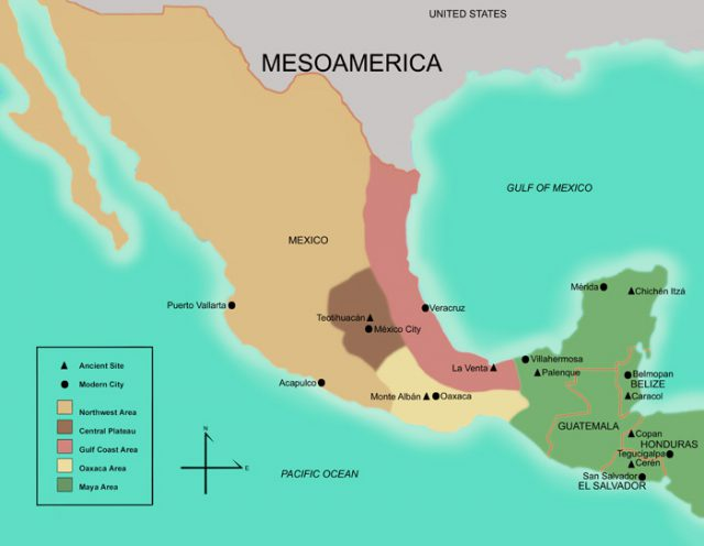 Mesoamerica map from famsi 1
