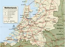 Netherlands Europe Map: Netherlands europe map from geographicguide 1