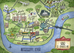 New Orleans On Map: New orleans on map from loyno 1