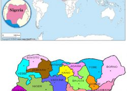 Nigeria on world map from researchgate 7