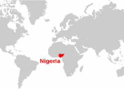 Nigeria on world map from researchgate 9