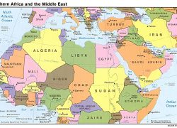 North africa map from sites 6