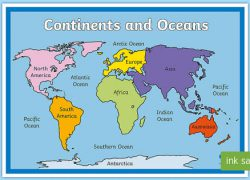 Oceans on map from twinkl 8