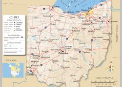 Ohio State Map: Ohio state map from nationsonline 1