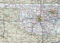 Oklahoma state map from maps of the usa 10