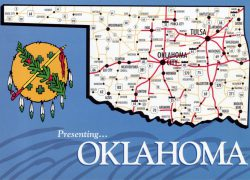 Oklahoma state map from maps of the usa 8
