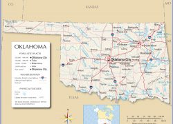 Oklahoma state map from nationsonline 3