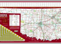 Oklahoma state map from odot 4