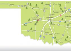 Oklahoma state map from pinterest 9