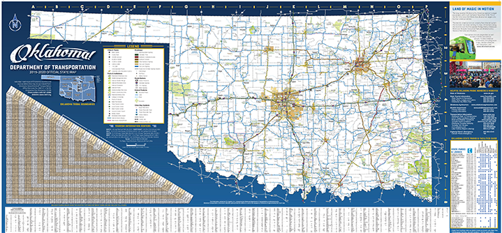 Oklahoma State Map From Travelok 1