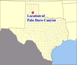 Palo duro canyon on texas map from pinterest 1