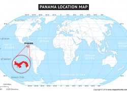 Panama World Map: Panama world map from mapsofworld 1