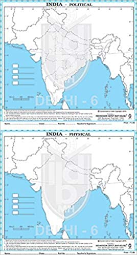 Physical Map Of India
