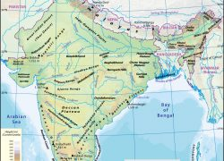 Physical Map Of India: Physical map of india from mapsofindia 1