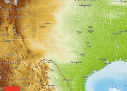 Physical map of texas from maphill 3