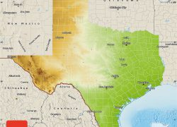 Physical map of texas from maphill 5