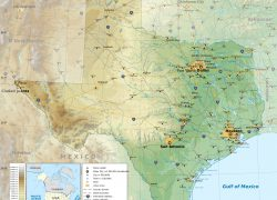 Physical map of texas from maps of the usa 8