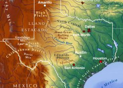 Physical map of texas from nationsonline 9