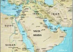 Physical map of the middle east from ducksters 7