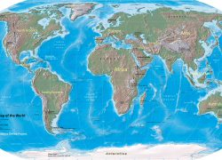 Physical World Map: Physical world map from nationsonline 1