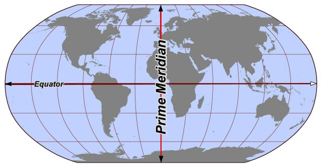 Prime Meridian On World Map