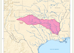 Red river map from usgs 9